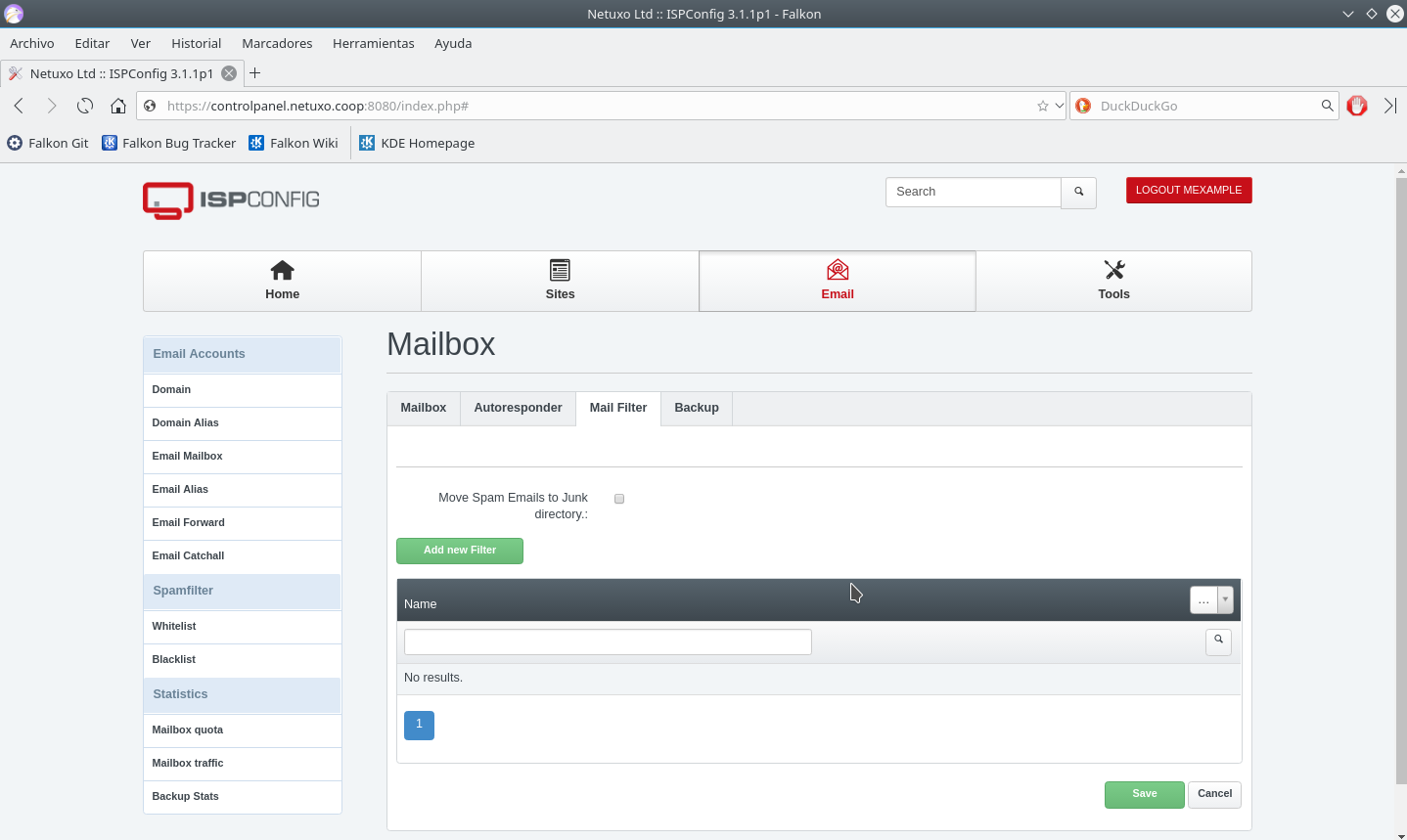 Mail Filter overview