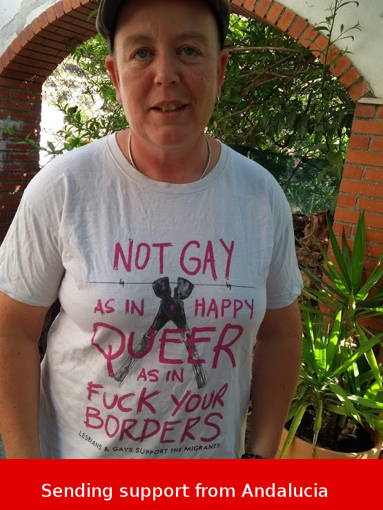 Photo of me with a LGSM support t-shirt