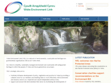 Screenshot of Wales Environment Link website