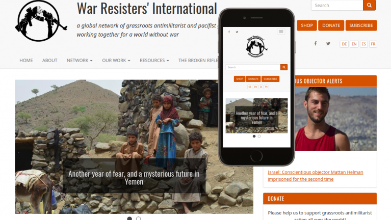 War Resister's International Drupal 8 site